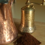 Turkish coffee grounds