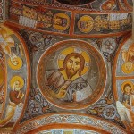 Christ Pantocrator, an 11th century fresco in the Dark Church (Karanlik Kilise).