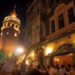 Galata Tower at Night, Istanbul, Turkey
